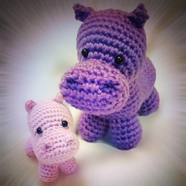 Amigurumi Hippo Mobile Free Crochet Patterns | Crochet baby ... | 640x640